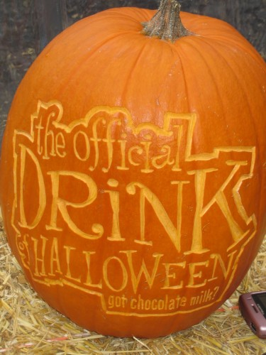 cool pumpkin carving for got milk