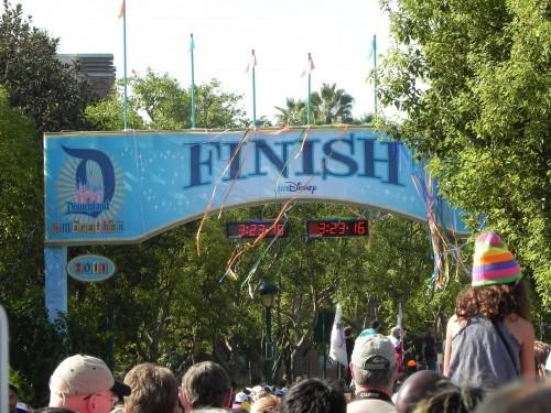 Disneyland Half Marathon Finish Line