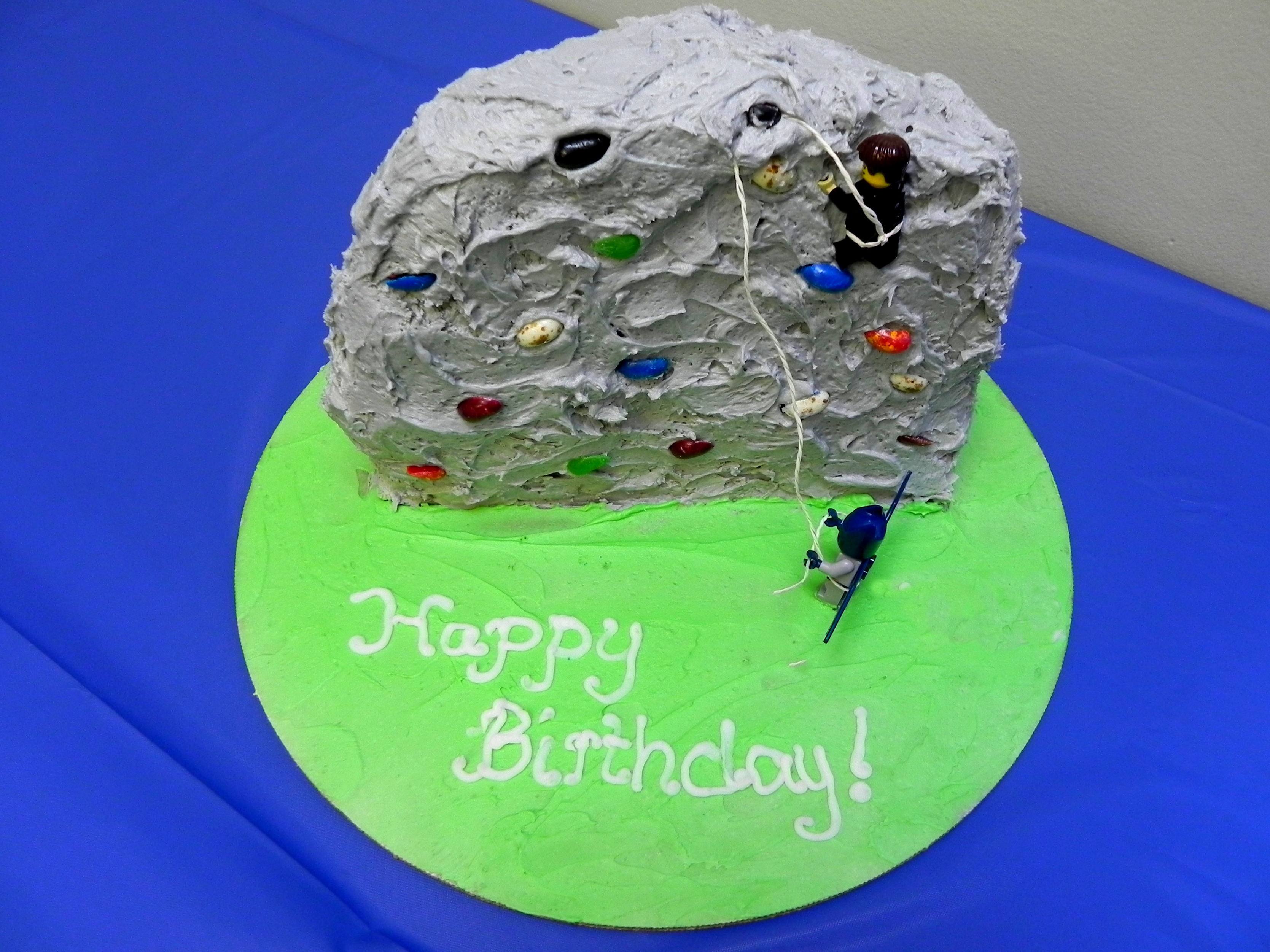 Miraculous How To Make A Rock Climbing Birthday Cake Yvonneinla Funny Birthday Cards Online Eattedamsfinfo