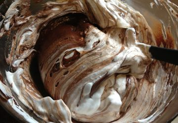 Flourless Chocolate Cake Batter photo by Yvonne Condes
