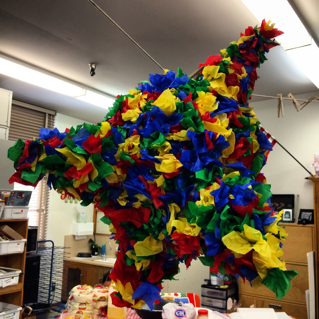 Completed Paper Mache Pinata