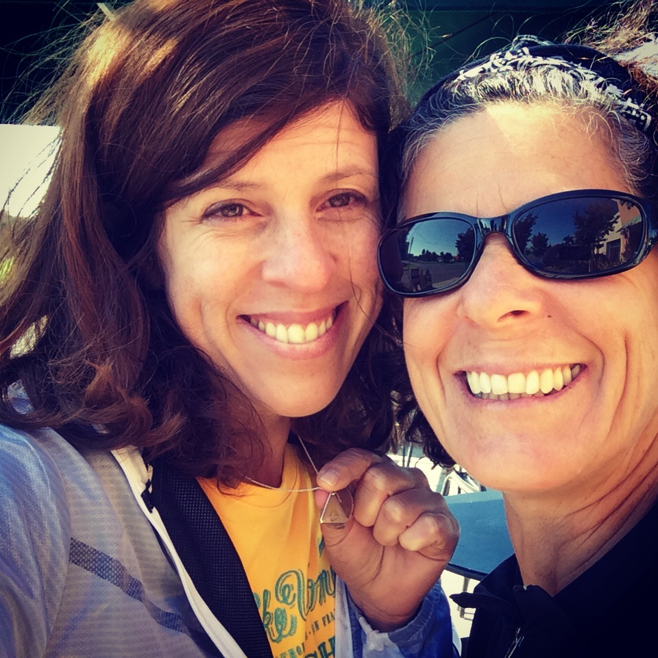 Yvonne Condes and Sister after Nike Women Half Marathon San Francisco 2013
