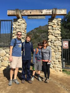 The beginning of the Los Leones Canyon Trail in Pacific Palisades