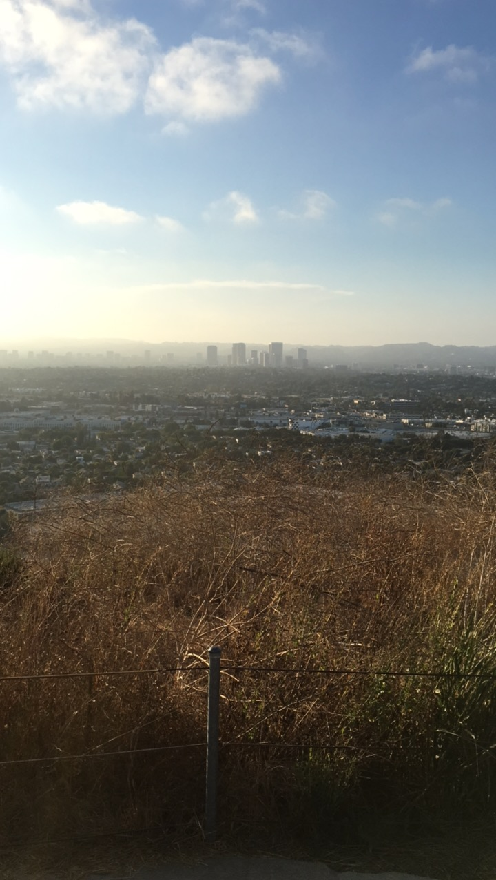 The view from the top of the Baldwin Hills Overlook
