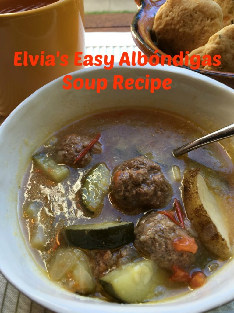 I just love my mom's recipe for albondigas soup - it's easy and not spicy so kids love it. #soup #albondigas #meatballs #soup #easysoup #easyrecipe