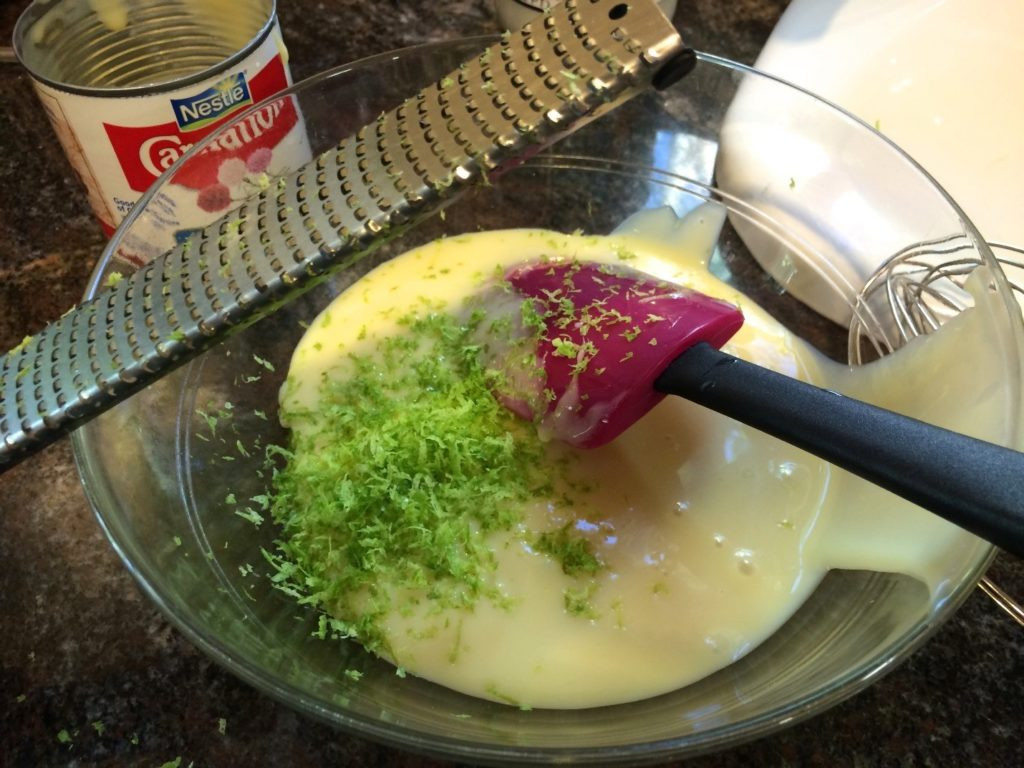 Lime zest and sweetened condensed milk (photo by Yvonne Condes)